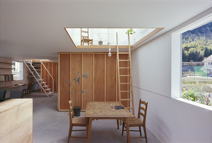House in Yamasaki Salle à manger originale par 島田陽建築設計事務所/Tato Architects Éclectique