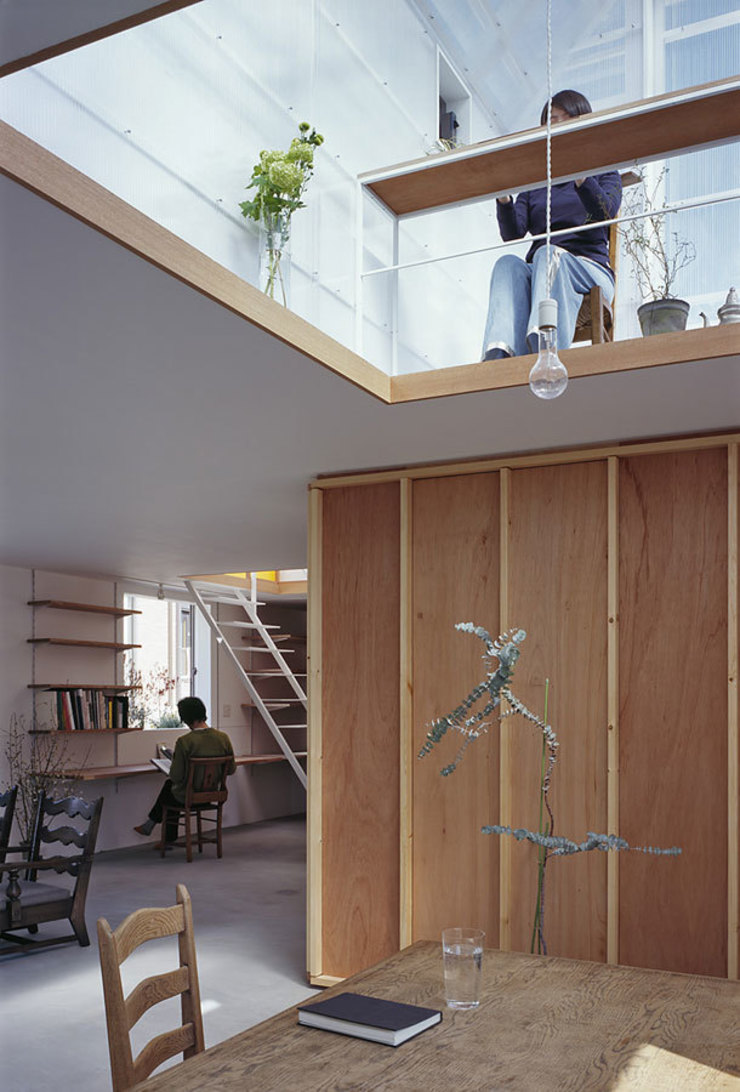 House in Yamasaki Eclectic style study/office by 島田陽建築設計事務所/Tato Architects Eclectic