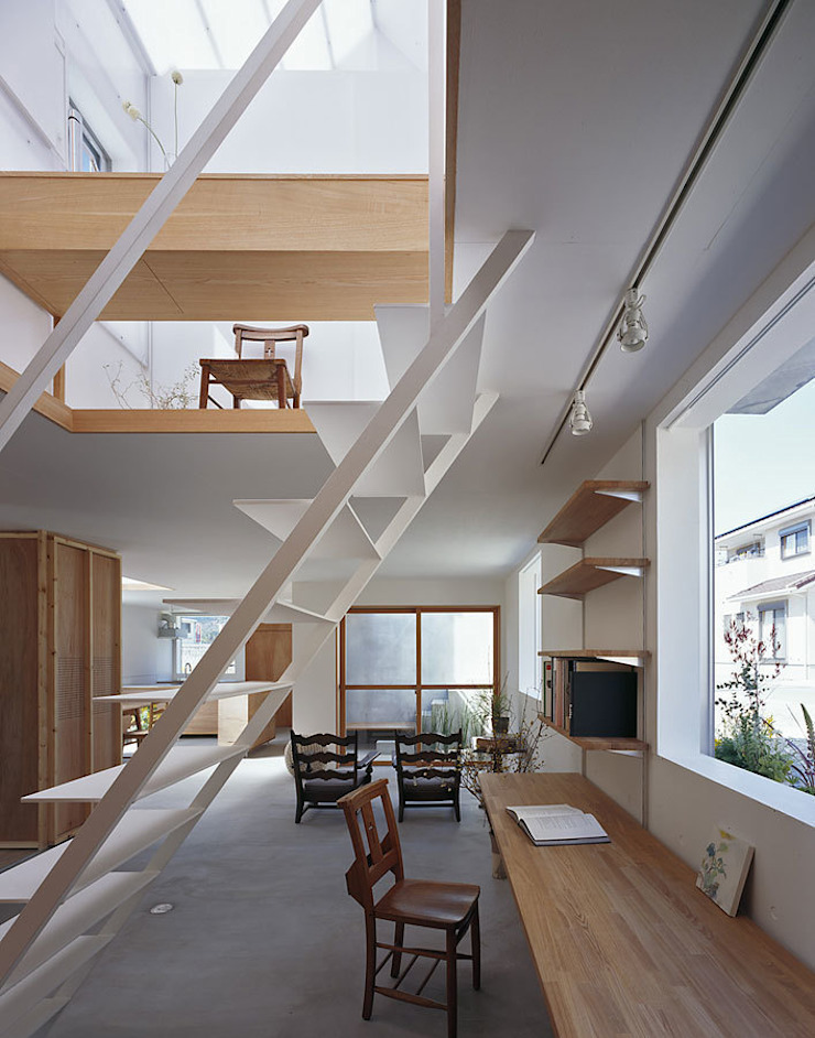 House in Yamasaki Minimalist study/office by 島田陽建築設計事務所/Tato Architects Minimalist