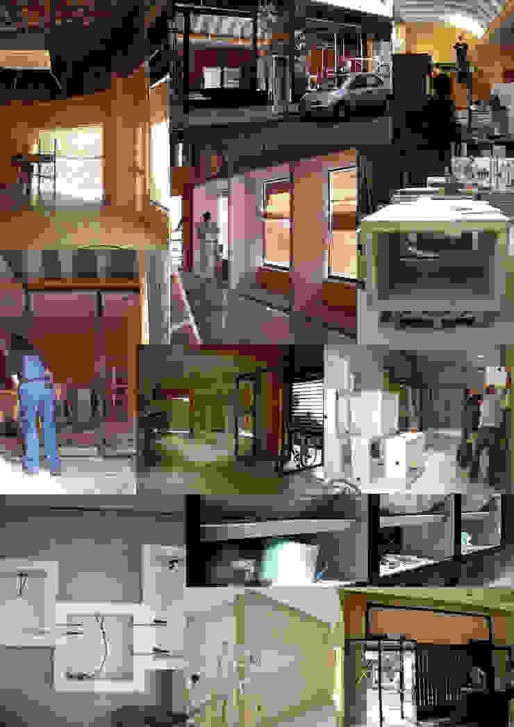 Durante la ejecución en obra Oficinas y tiendas de estilo moderno de interior03 Moderno