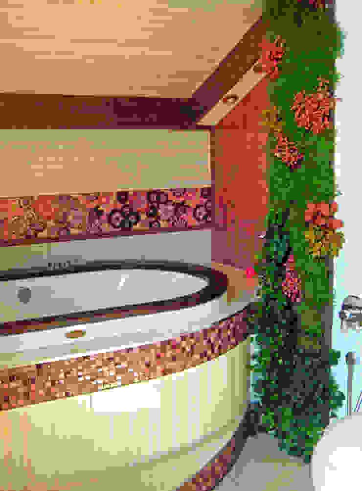 Фитостена в ванной комнате от RaStenia Средиземноморский