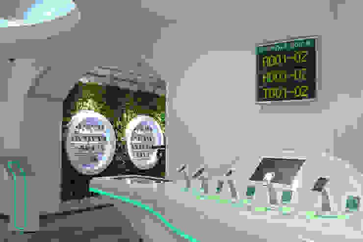 Флагманский салон <q>МегаФон</q>, ГУМ, Москва:  в современный. Автор – RaStenia, Модерн