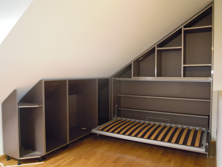Amueblamiento de Aticos SQ-Decoración Dormitorios de estilo moderno
