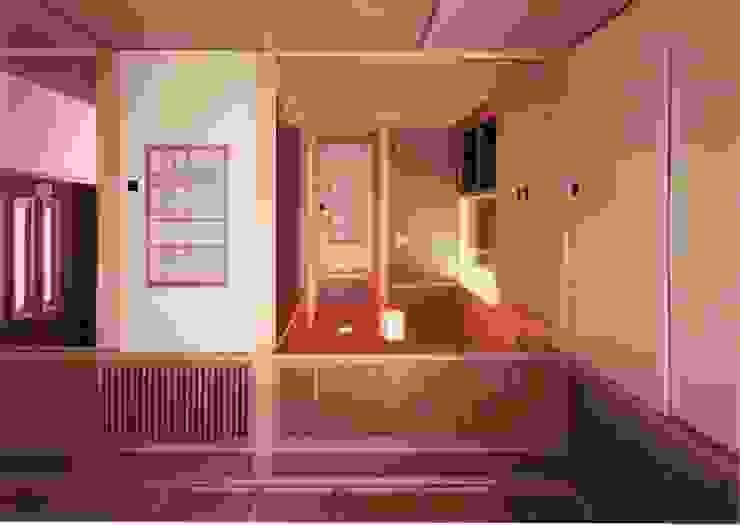 中庭に暮らすスペイン風パティオのある目白の家1回和室。ご母堂室 クラシックデザインの 多目的室 の 株式会社 山本富士雄設計事務所 クラシック 木 木目調
