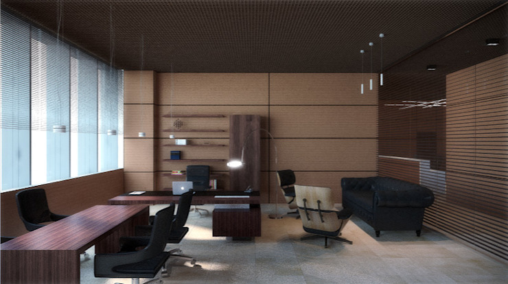 Eclectic style study/office by Блаудерман Бюро Eclectic