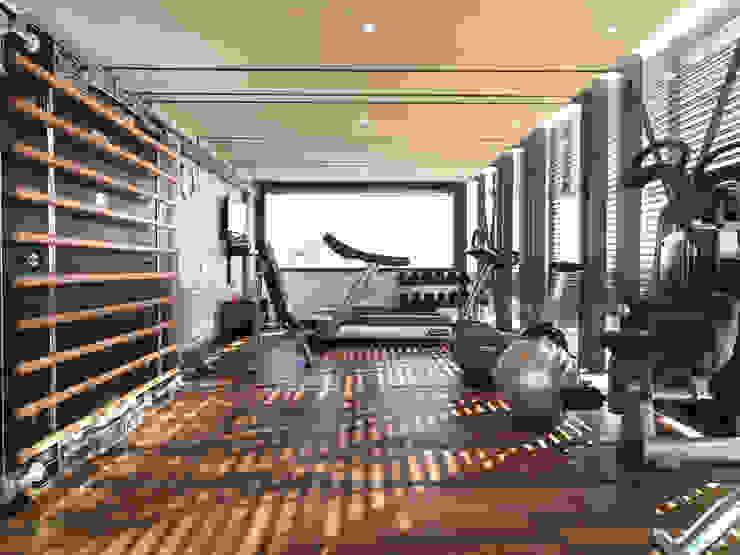 Modern Gym by SA Architecture Modern