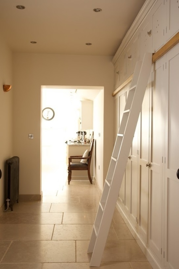Dijon Tumbled Limestone - Hallway Classic style corridor, hallway and stairs by Floors of Stone Ltd Classic