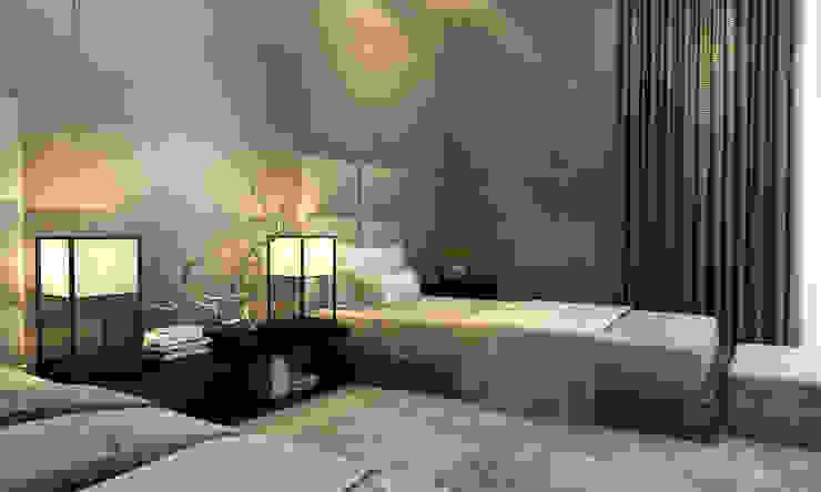 Интерьеры особняка Bowmont Residence, LA, USA Спальня в эклектичном стиле от Марина Анисович, студия NEUMARK Эклектичный