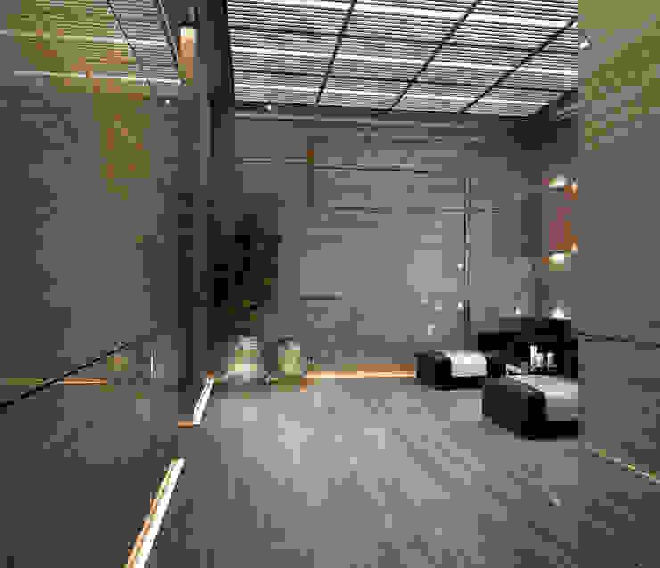 Интерьеры особняка Bowmont Residence, LA, USA Коридор, прихожая и лестница в эклектичном стиле от Марина Анисович, студия NEUMARK Эклектичный