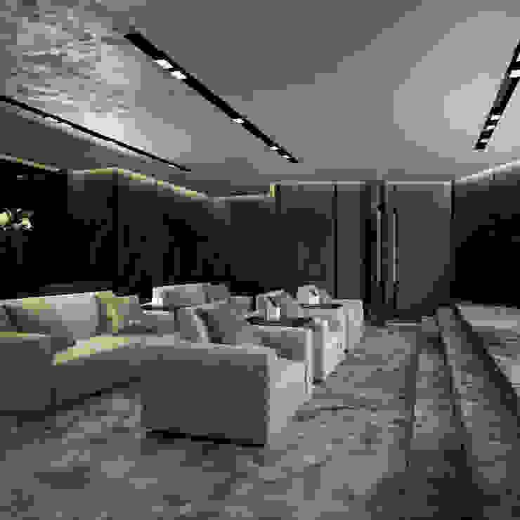 Интерьеры особняка Bowmont Residence, LA, USA Медиа комнаты в эклектичном стиле от Марина Анисович, студия NEUMARK Эклектичный