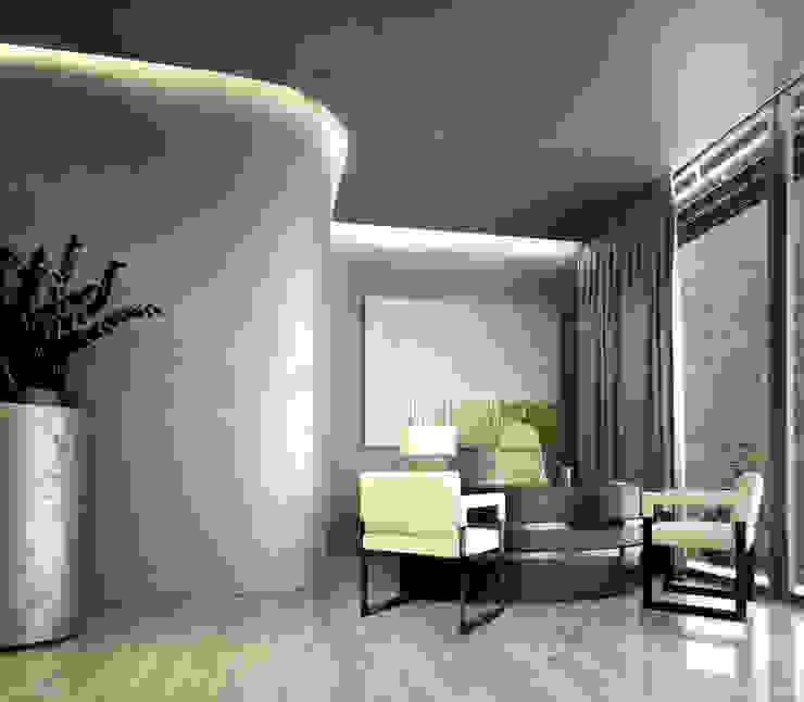 Интерьеры особняка Bowmont Residence, LA, USA Рабочий кабинет в эклектичном стиле от Марина Анисович, студия NEUMARK Эклектичный