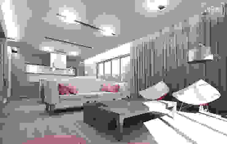 Phòng khách phong cách tối giản bởi ADV Design Tối giản