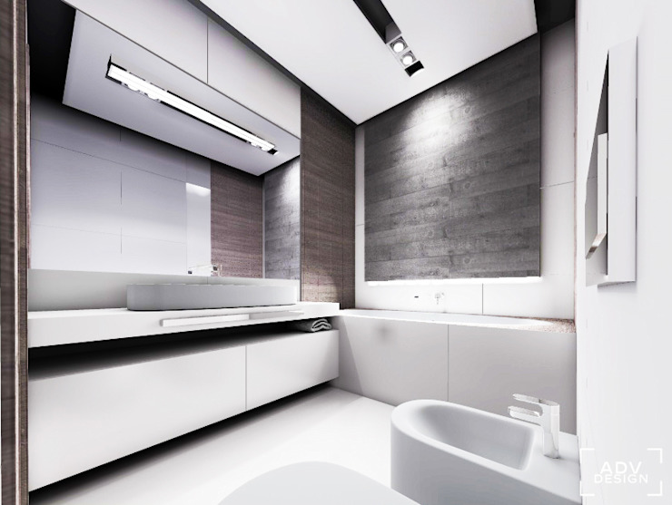 Phòng tắm phong cách tối giản bởi ADV Design Tối giản