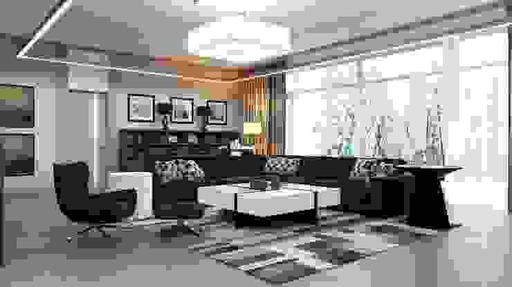Ruang Keluarga Modern Oleh Студия Искандарова Modern
