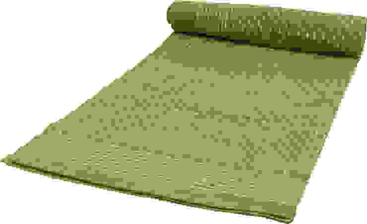Grüne Tagesdecke oder Vorhang mit Blogdruck von Guru-Shop Asiatisch