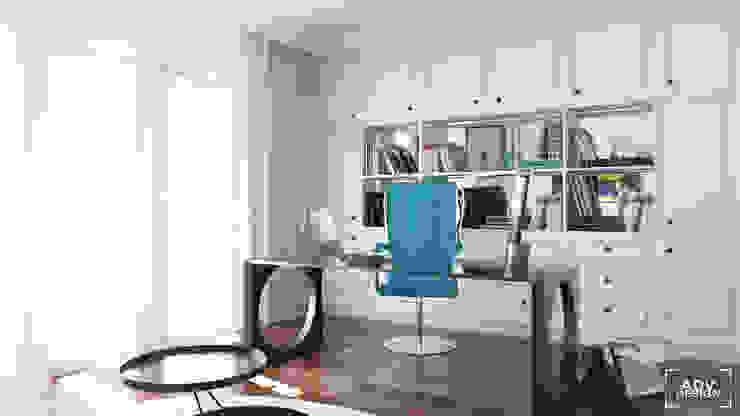 Część dzienna - gabinet Klasyczne domowe biuro i gabinet od ADV Design Klasyczny