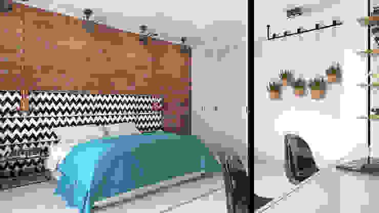 Phòng ngủ phong cách công nghiệp bởi ADV Design Công nghiệp