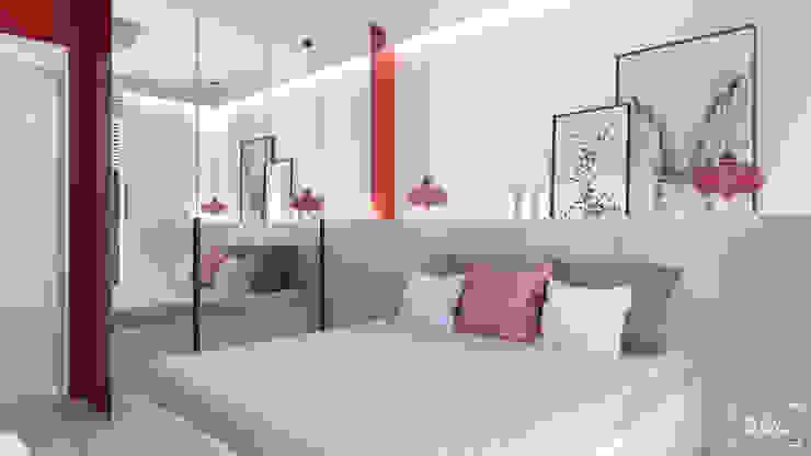 Część prywatna - sypialnia Skandynawska sypialnia od ADV Design Skandynawski