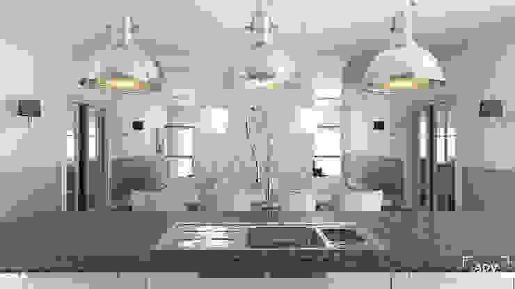 Część dzienna - jadalnia, kuchnia Klasyczna kuchnia od ADV Design Klasyczny
