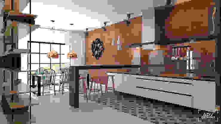 Nhà bếp phong cách công nghiệp bởi ADV Design Công nghiệp