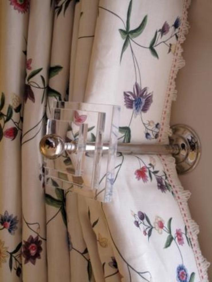 Perspex and Chrome Curtain Holdbacks: classic  by Meltons, Classic