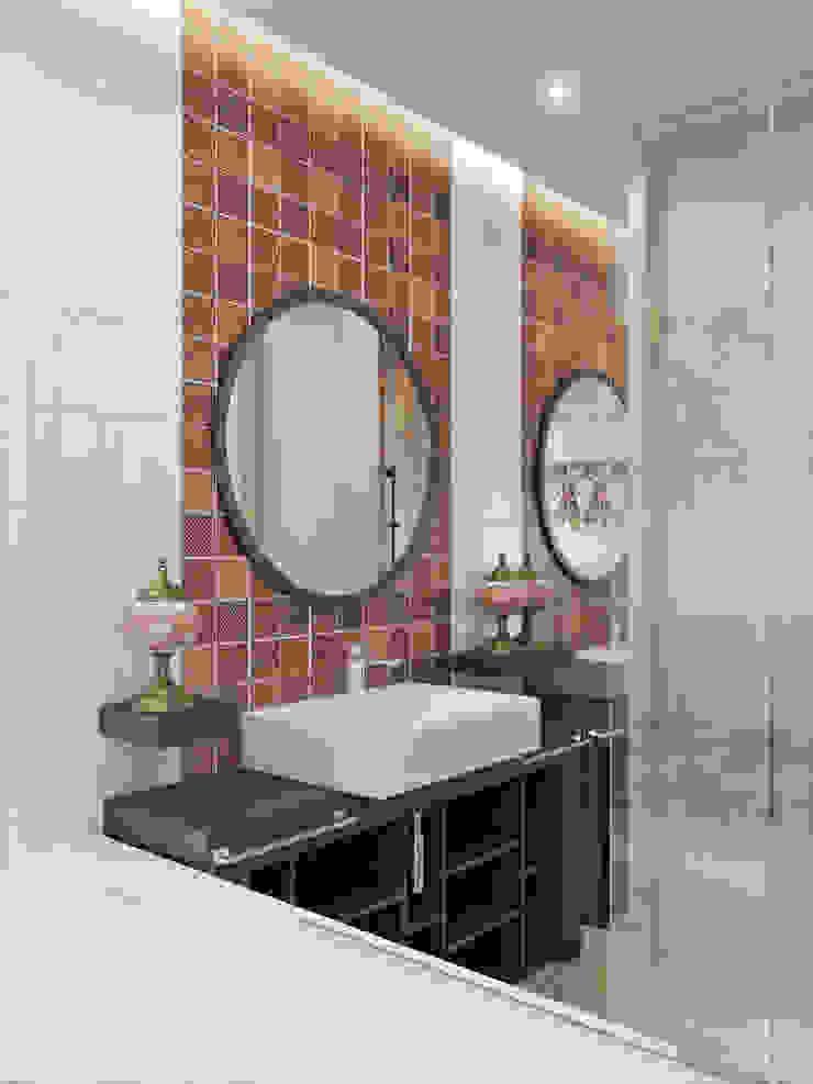 СТРОГОСТЬ КОНТРАСТА Ванная в азиатском стиле от GOODHOUZZ Азиатский