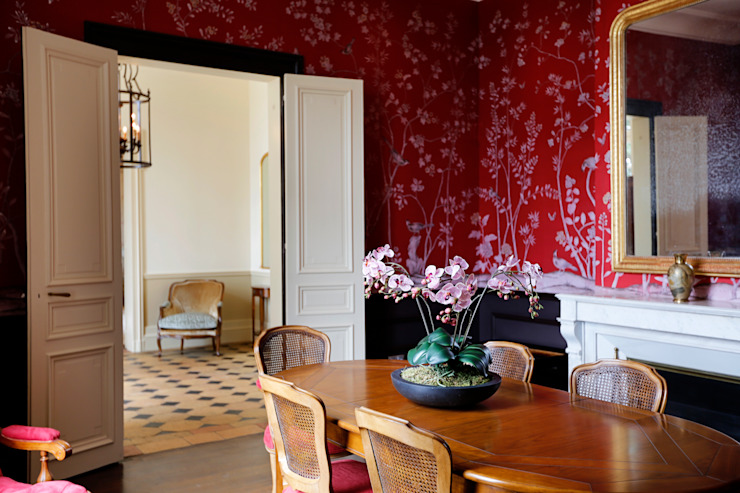 Country style dining room by Oficina Inglesa Country