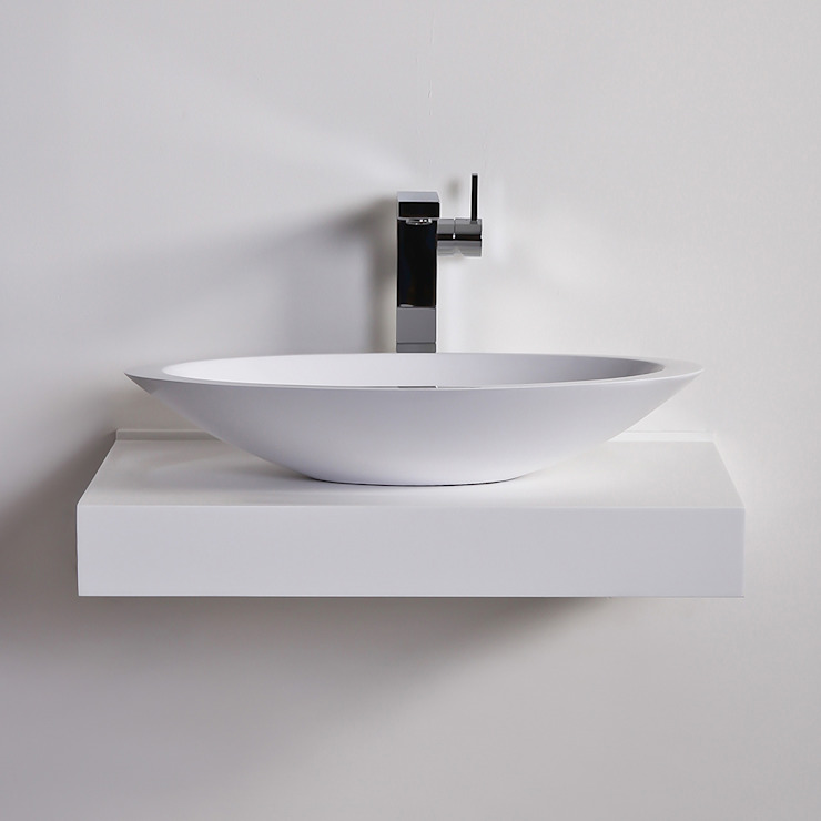 Lusso Stone Egg shell Slim Solid surface stone resin counter top basin 600: modern  by Lusso Stone, Modern