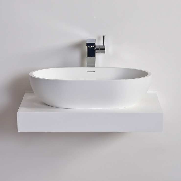 Lusso Stone picasso Solid surface stone resin counter top basin 580: modern  by Lusso Stone, Modern