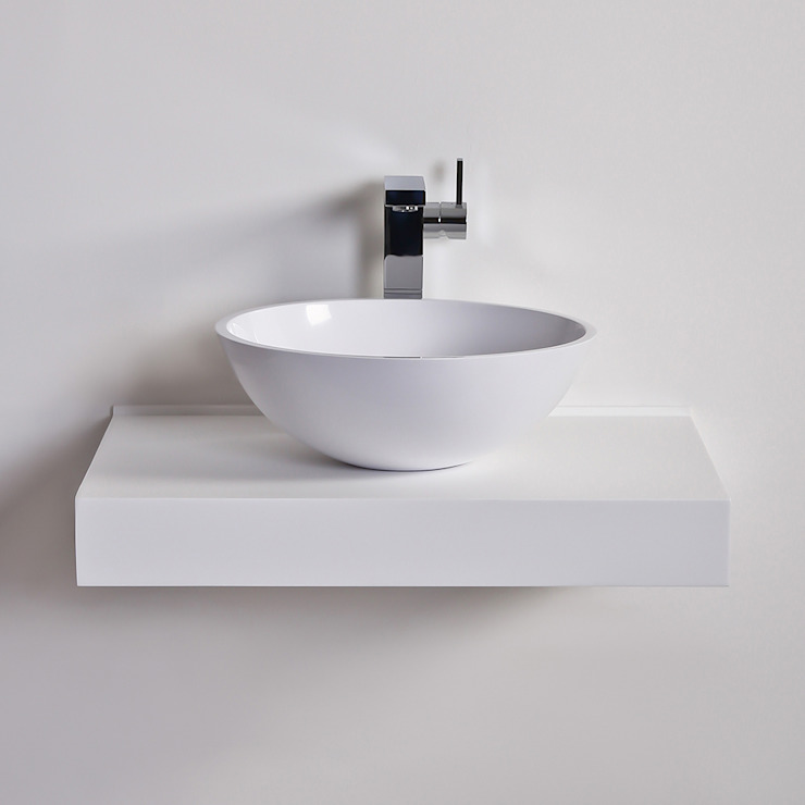 Lusso Stone Oasis Round Solid surface stone resin counter top basin 420: modern  by Lusso Stone, Modern