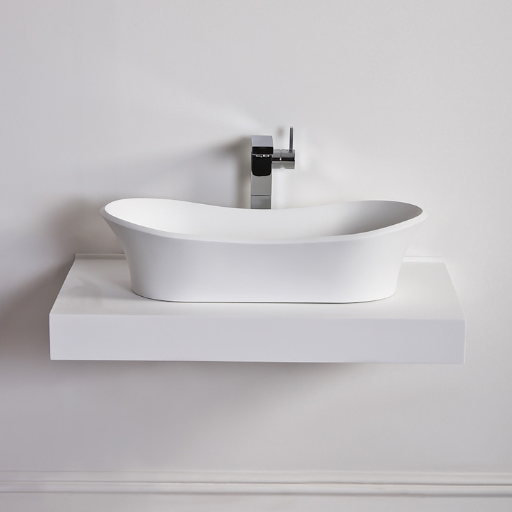 Lusso Stone Amalfi Solid surface stone resin counter top basin 660: modern  by Lusso Stone, Modern