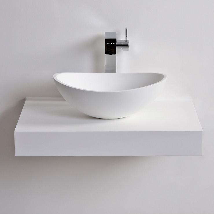 Lusso Stone Soho Solid surface stone resin counter top basin 420: modern  by Lusso Stone, Modern