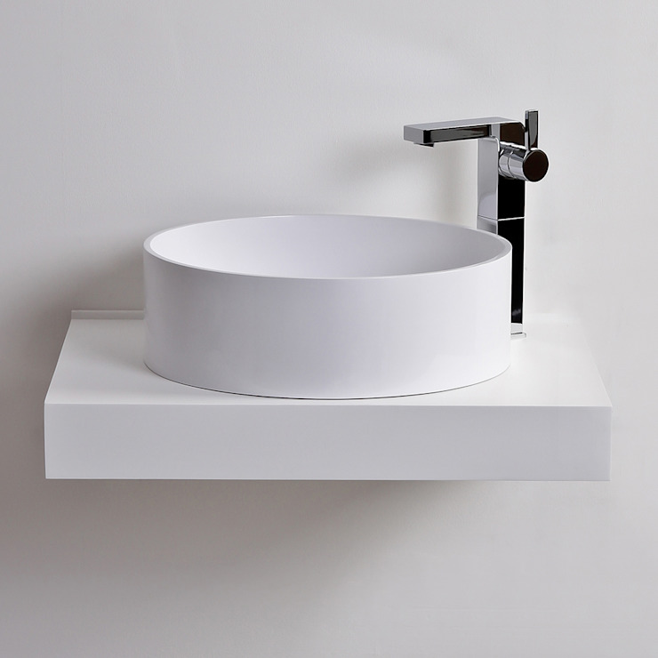 Lusso Stone Nuvo Solid surface stone resin round counter top basin 450: modern  by Lusso Stone, Modern