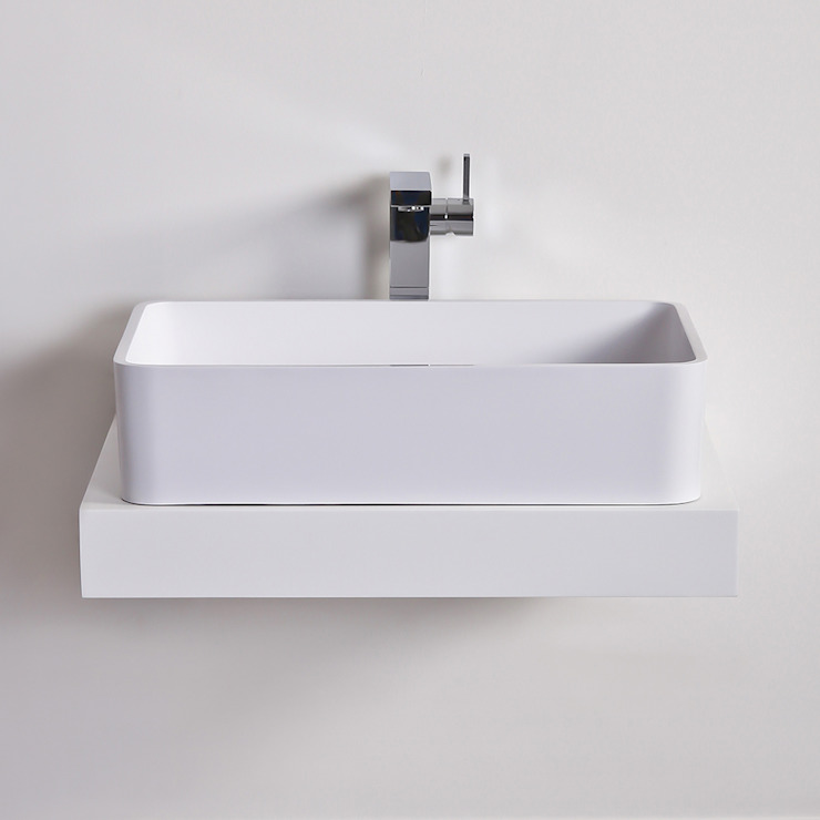 Lusso Stone Lauro Solid surface stone resin counter top basin 600: modern  by Lusso Stone, Modern