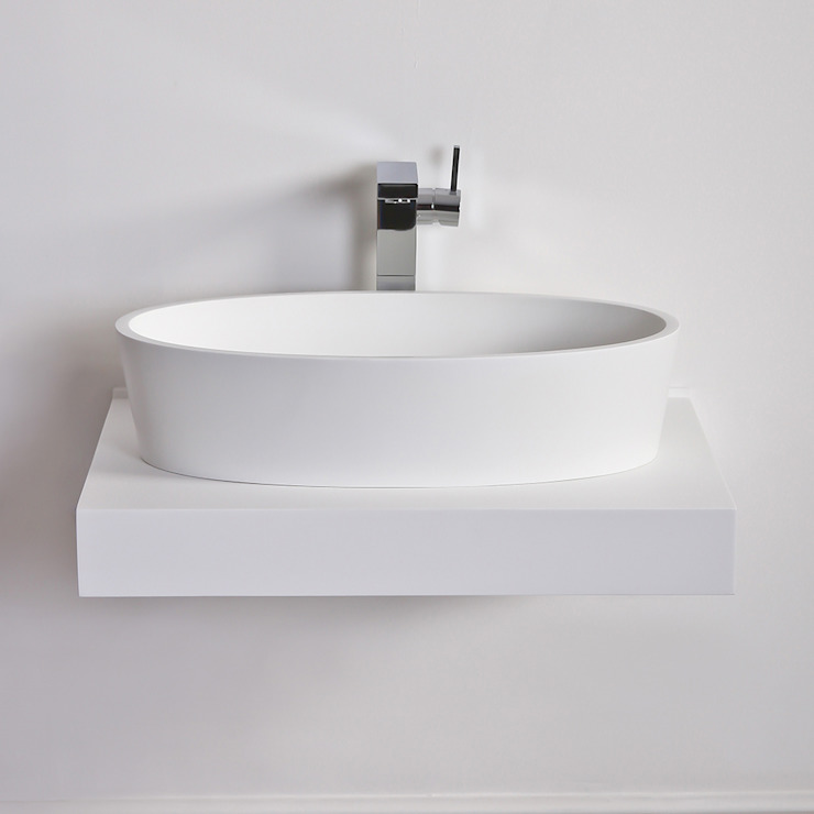 Lusso Stone ios Solid surface stone resin counter top basin 600: modern  by Lusso Stone, Modern