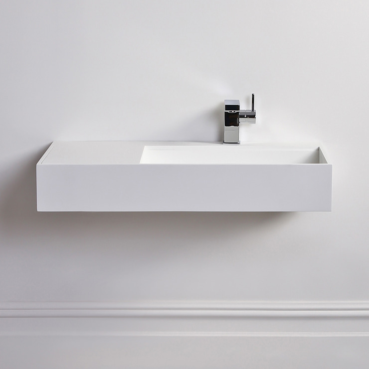Lusso Stone Veno Solid surface stone resin wall hung basin 800: modern  by Lusso Stone, Modern