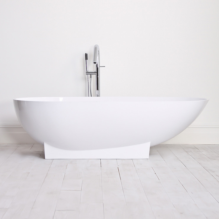 Lusso Stone cocoon Solid Stone Resin Freestanding Bath 1810: modern  by Lusso Stone, Modern