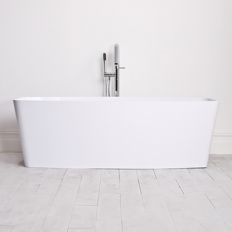 Lusso Stone albert Stone Resin Solid Surface Freestanding Bath 1700: minimalist  by Lusso Stone, Minimalist