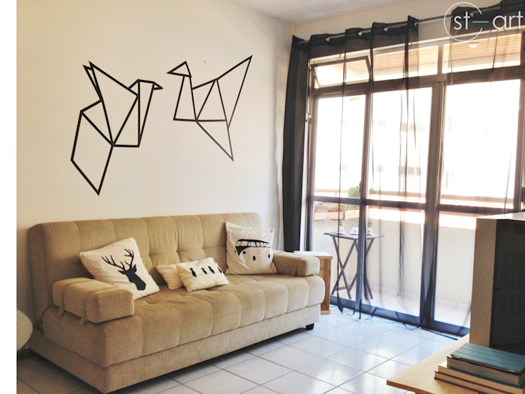 Cara nova para sala de estar Salas de estar modernas por start.arch architettura Moderno