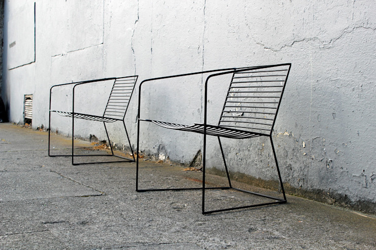 loft evo krzesło wypoczynkowe 2014 od Modestwork Skandynawski Żelazo/Stal