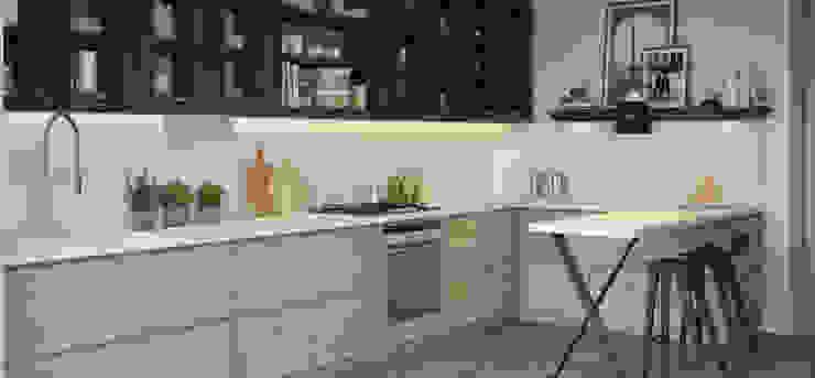 BODRUM YALIKAVAK SAKLIKORU Esra Kazmirci Mimarlik ห้องครัวตู้เก็บของและชั้นวางของ