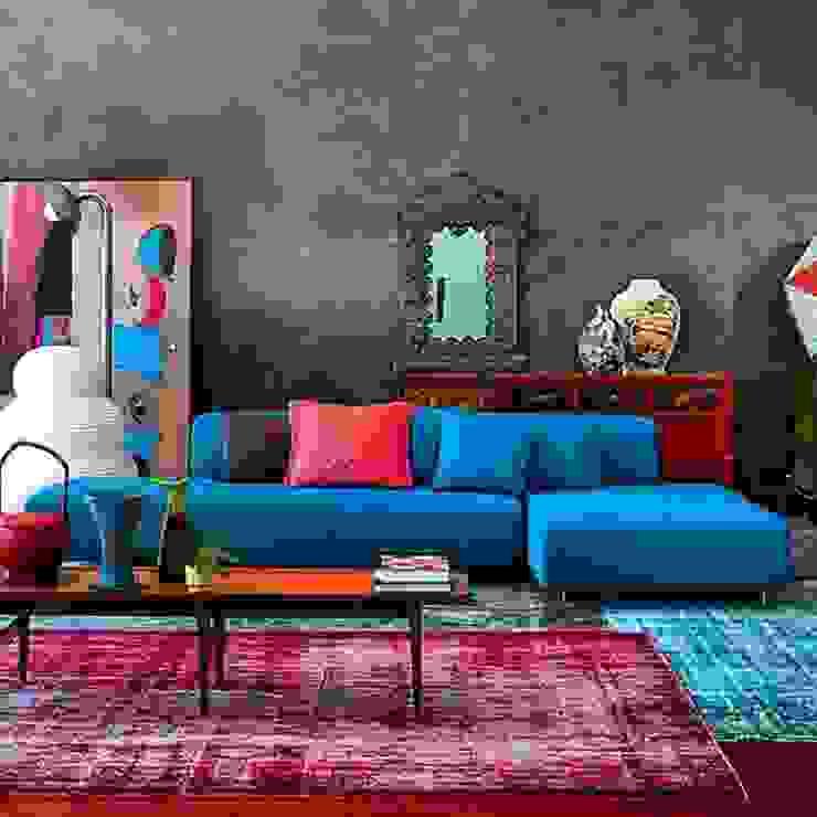 ห้องนั่งเล่น โดย Meral Akçay Konsept ve Mimarlık, โมเดิร์น