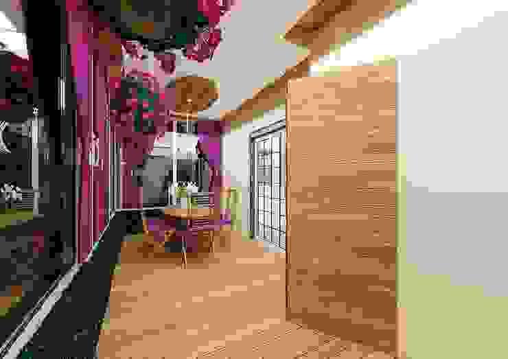 Feng Shui Uygulama Akdeniz Balkon, Veranda & Teras Meral Akçay Konsept ve Mimarlık Akdeniz