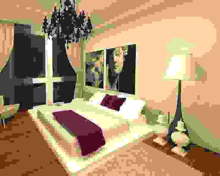 モダンスタイルの寝室 の Meral Akçay Konsept ve Mimarlık モダン