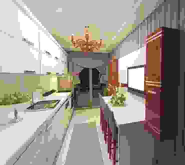 Meral Akçay Konsept ve Mimarlık – Feng Shui Uygulama:  tarz Mutfak,