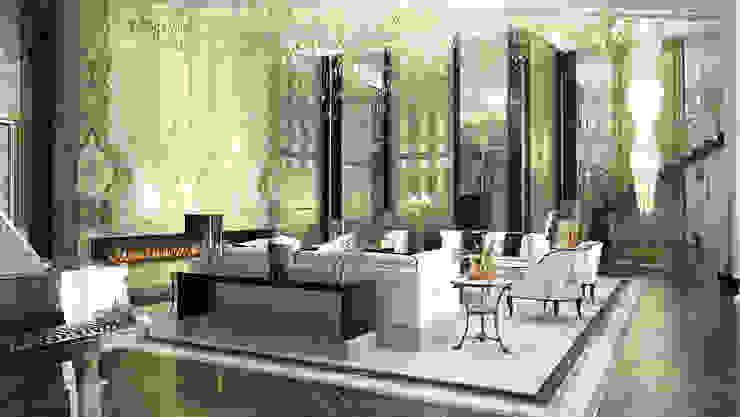 Интерьеры современного особняка в стиле ар-деко, Нью-Йорк, США Гостиные в эклектичном стиле от Марина Анисович, студия NEUMARK Эклектичный