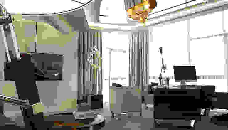 Интерьеры современного особняка в стиле ар-деко, Нью-Йорк, США Рабочий кабинет в эклектичном стиле от Марина Анисович, студия NEUMARK Эклектичный
