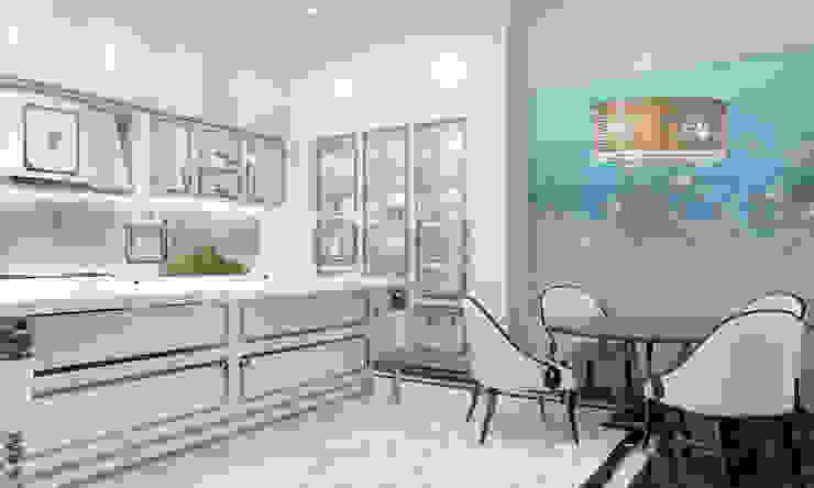 Интерьеры современного особняка в стиле ар-деко, Нью-Йорк, США Кухни в эклектичном стиле от Марина Анисович, студия NEUMARK Эклектичный