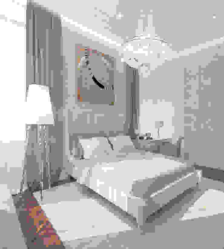 Интерьеры современного особняка в стиле ар-деко, Нью-Йорк, США Спальня в эклектичном стиле от Марина Анисович, студия NEUMARK Эклектичный