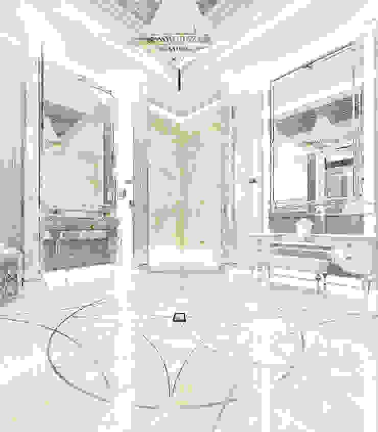 Интерьеры современного особняка в стиле ар-деко, Нью-Йорк, США Ванная комната в эклектичном стиле от Марина Анисович, студия NEUMARK Эклектичный